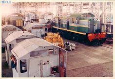 1964 Assembly line for Diesel Hydraulic Locomotives - Walkers at Maryborough [Queensland Railways, Class DH]
