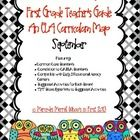 First Grade Teacher's Guide: An ELA Monthly Curriculum Map featuring:  *Common Core Standards (CSS) *Correlation to CA ELA Standards *Compatible wi...
