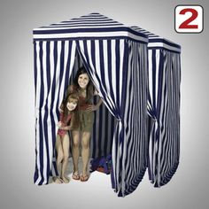 2X Portable Cabana Stripe Changing Room Privacy Tent Pool Camping Outdoor Pop Up | eBay