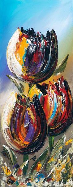 Bild: GENA - Tulips 1 - Garden Care tips, Garden ideas,Garden design, Organic Garden Tulip Painting, Acrylic Painting Techniques, Painting Tutorials, Arte Floral, Acrylic Art, Acrylic Paintings, Art Paintings, Abstract Flowers, Painting Abstract