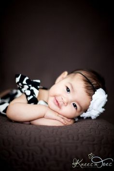 Just adorable! 3 month old baby girl. Photography by Knees and Toes Photography.