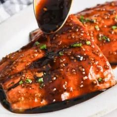 Honey Glazed Salmon (From Fresh or Frozen Filets) - Spend With Pennies Honey Glazed Salmon Recipe, Honey Salmon, Smoked Salmon Recipes, Bake Frozen Salmon, Salmon From Frozen, Lemon Pepper Salmon, Salmon And Broccoli, Salmon Seasoning, Salmon Dishes