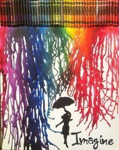 Melted Crayon Art so cool and really easy even i can do it