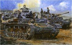 Pzkpfw-IV Ausf.F Box Art by Yoshiyuki Takani