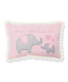 Another great find on #zulily! Elephant 'Dream Big' Pillow #zulilyfinds
