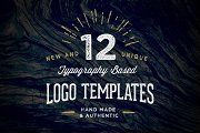 12 Typography Based Vintage Logos - Templates - 1