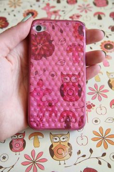 Use scrapbook paper to dress up your iphone case!
