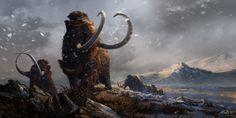 Prehistoric Mammals Woolly Mammoths by Balcsika.deviantart.com on @DeviantArt