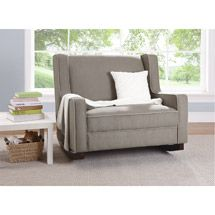 A double glider so we could read stories to both kiddos! I so want this!! Walmart: Baby Relax Hadley Double Rocker, Dark Taupe