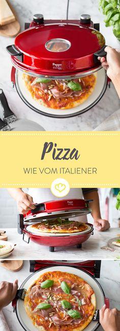 Wo gibt es die beste Pizza? Bei dir zuhause! Denn mit dem Pizzaofen Peppo von Springlane Kitchen bereitest du Pizza, Flammkuchen oder Calzone ganz einfach selbst zu. Das Beste: Sie schmecken, als wären sie im traditionellen Steinofen gebacken.