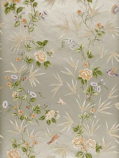 Schumacher - Peony Bamboo - Metallic Gold (Decorator's Best) - $290/single roll