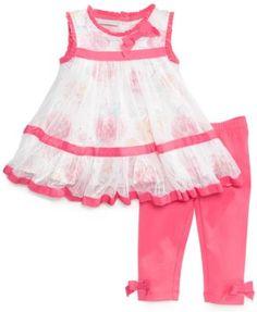 513874d1b First Impressions Baby Girls' 2-Piece Eyelet Tunic & Leggings Set & Reviews  - Kids - Macy's. Vestidos De Niñas ...