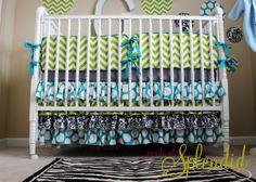 baby bedding pattern | Ruffled Crib Skirt Tutorial {Nursery Bedding Reveal} | Positively ...