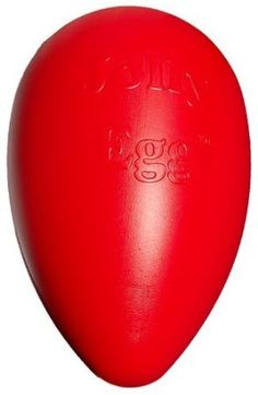 Amazon.com: Jolly Pets Egg Plastic Ball for Pets, 12-Inch, Red: Pet Supplies - $17.00