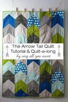 The Arrow Tail Quilt tutorial and quilt-along