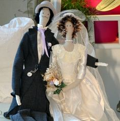 couple de poupées tissus d'inspiration tilda : Accessoires de maison par dame-brigitte