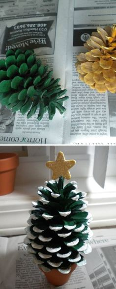 Pine Cone Christmas Tree--I soooo want to do this. but a tornado took away our pine tree a few years ago. :(