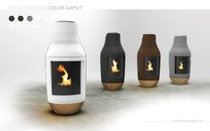 Franco Belge Pellet Stove - Wouldn't it be cool if you could light a fire with your smartphone? There's an app for that. This concept for a new Franco Belge Pellet. Pellet Heater, Pellet Stove, Pellet Fireplace, Fireplaces, Wood Pellets, Rocket Stoves, Light My Fire, Wood Burner, Sink Units