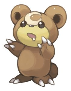 Render Pokemon - Renders Pokemon Teddiursa Ourson Brun Marron