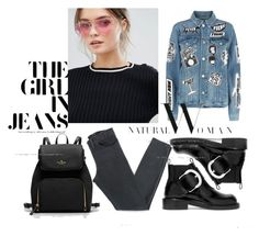 """""""need more jeans"""" by rose-rose1 ❤ liked on Polyvore featuring Jeepers Peepers, Frame, Acne Studios, Maison Margiela, cool, chic and denim"""
