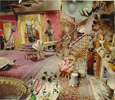 of Weird News and Media 2013 This is what the set of the original black & white Addams Family TV show set looked like in color.This is what the set of the original black & white Addams Family TV show set looked like in color.