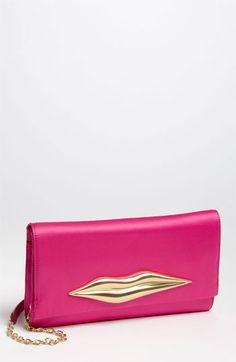 Diane von Furstenberg 'Carolina Lip' Satin Clutch available at #Nordstrom