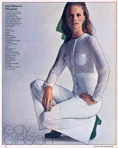 1969 NY Time Gay Gibson Shelley Hack | Ipolani | Flickr Shelley Hack, 1969 Fashion, Gay, Hacks, Costumes, People, Sweaters, Photography, Dresses