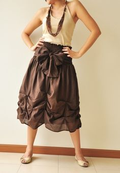 Baby Doll.... Dark Brown Cotton Dress/Skirt from aftershowershop #etsy