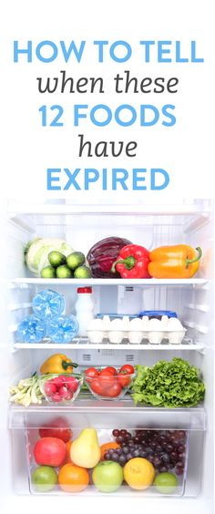 How to tell when you're food is expired