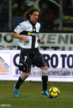 Paolo Castellini of Parma in action during the Serie A match between at Parma FC and FC Internazionale Milano Ennio Tardini on February 10 2010 in...