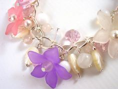 Spring Comes from Winter  Floral Charm Bracelet with by Pookledo, £15.00