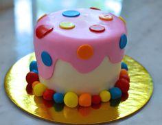 Mini Birthday Cake with Polka Dots!