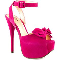 Luichiny Women's Ready Or Not - Fuchsia ($90) ❤ liked on Polyvore featuring shoes, pumps, heels, zapatos, fuchsia, stiletto pumps, platform shoes, platform stilettos, high heel shoes and fuchsia pumps