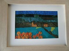 Yorkshire Wolds in Spring Textile Art