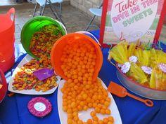 Splish Splash! I'm 7! Poolside Snacks Station | Event Styled by Dona of celebratinglifebydona.com | Themed Parties