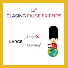 S M L Te suena de las tallas de la ropa? Esa L es Large y no no significa largo sino grande. Para referirnos a algo largo utilizamos la palabra Long.  #falsefriends #english #englishschool #englishtime #englishclasses English Vocabulary, English Grammar, Teaching English, English Tips, Learn English, False Friends, Spanish Language Learning, Study, Words
