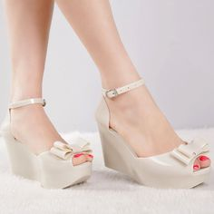 8310505c1 Online Shop New arrival 2014 melissa jelly shoes bow platform wedges female  sandals open toe high-heeled shoes