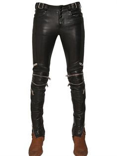 15.5CM ZIPPED NAPPA BIKER TROUSERS...but the saddest thing ever is when you fall in love with $7000 pants.