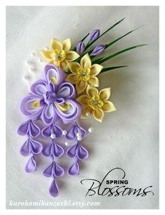 Spring Blossoms Clip by Kurokami-Kanzashi.deviantart.com on @deviantART