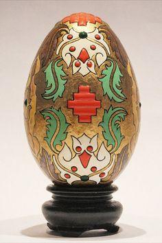 Egg Shells, Golden Goose, Vase, Painting, Home Decor, Self, Decoration Home, Room Decor, Painting Art
