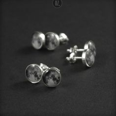 New sterling silver studs - Full Moon:)