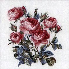 Garden Roses Cross Stitch Kit By Riolis