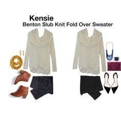 Benton Slub Knit Fold Over Sweater
