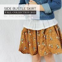 Side Bustle Skirt Pattern - via @Craftsy