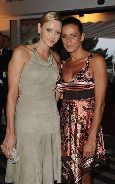 Princess Charlene of Monaco and her sister in law Princess Stephanie of Monaco.