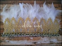 New- Feather Glam Headdress/Crown