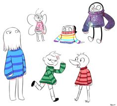 AHHH THE SWEATERS ARE THEIR FAVORITE COLORS