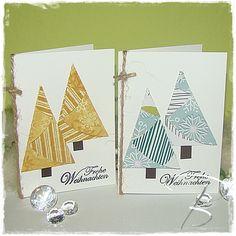 Weihnachten im Januar - Gefaltete Tannenbäume mit eigener Videoanleitung http://billes-bastelblog.blogspot.de/2015/01/gefaltete-tannenbaume.html Viele Bastelgrüße Bille