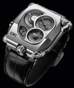 Montre Urwerk EMC - Urwerk réussit la première greffe de « cerveau » sur une montre mécanique.