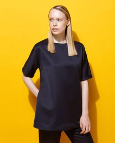 navyLennon Courtney at Dunnes Stores Trapeze Top
